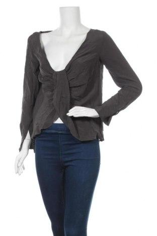 Γυναικεία μπλούζα Club Monaco, Μέγεθος S, Χρώμα Γκρί, Μετάξι, Τιμή 33,86€