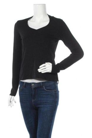Дамска блуза Comma,, Размер S, Цвят Черен, 47% памук, 47% модал, 6% еластан, Цена 6,38лв.
