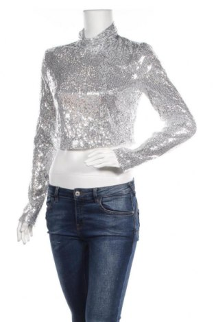 Дамска блуза Nasty Gal, Размер L, Цвят Сив, Полиестер, Цена 12,60лв.