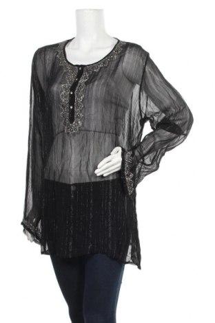 Γυναικεία μπλούζα Zizzi, Μέγεθος L, Χρώμα Μαύρο, Βισκόζη, Τιμή 12,70€
