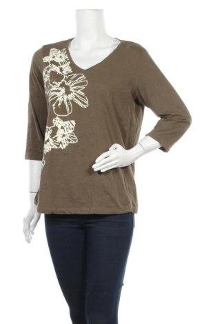Γυναικεία μπλούζα Zizzi, Μέγεθος L, Χρώμα Πράσινο, Βαμβάκι, Τιμή 9,94€