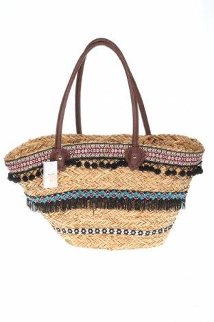 Дамска чанта Reserved, Цвят Бежов, Други тъкани, текстил, еко кожа, Цена 35,28лв.