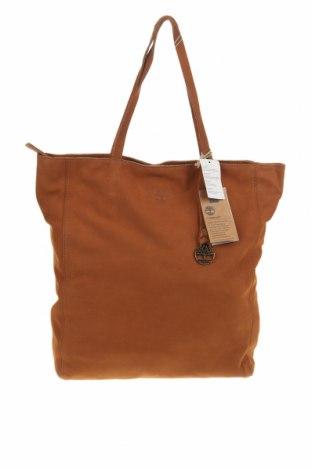 Дамска чанта Timberland, Цвят Кафяв, Естествена кожа, Цена 231,75лв.
