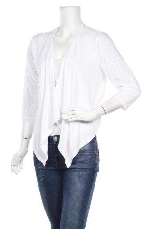 Γυναικεία ζακέτα Brandtex, Μέγεθος L, Χρώμα Λευκό, 92% βισκόζη, 8% ελαστάνη, Τιμή 4,09€