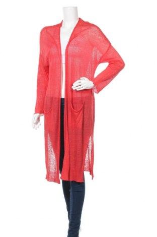 Дамска жилетка Fiorella Rubino, Размер M, Цвят Червен, 93% лен, 7% полиамид, Цена 35,55лв.