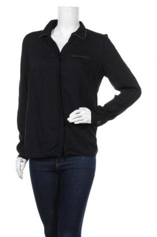 Γυναικείο πουκάμισο Bon'a Parte, Μέγεθος M, Χρώμα Μαύρο, Βισκόζη, Τιμή 7,79€