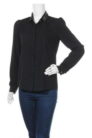 Дамска риза Culture, Размер M, Цвят Черен, 68% вискоза, 30% полиестер, 2% еластан, Цена 16,54лв.