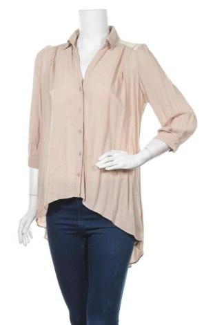 Дамска риза H&M, Размер M, Цвят Бежов, Вискоза, Цена 6,98лв.