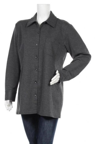 Дамска риза New York & Company, Размер XL, Цвят Сив, 70% полиестер, 25% вискоза, 5% еластан, Цена 17,85лв.