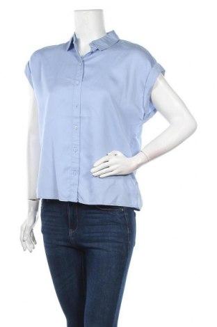 Дамска риза Tom Tailor, Размер S, Цвят Син, Лиосел, Цена 30,87лв.