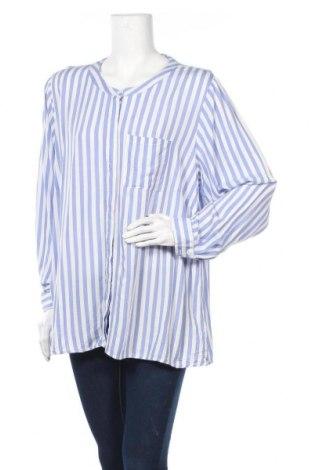 Γυναικείο πουκάμισο Zizzi, Μέγεθος L, Χρώμα Μπλέ, Βισκόζη, Τιμή 13,80€