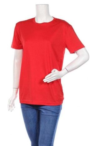 Дамска тениска, Размер M, Цвят Червен, Полиестер, Цена 5,25лв.