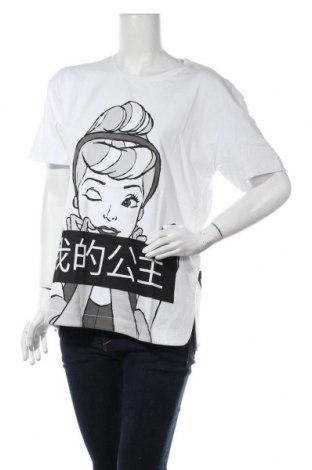 Дамска тениска Disney, Размер XS, Цвят Бял, Памук, Цена 18,00лв.