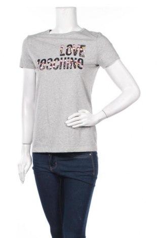 Γυναικείο t-shirt Love Moschino, Μέγεθος S, Χρώμα Γκρί, Βαμβάκι, Τιμή 49,87€