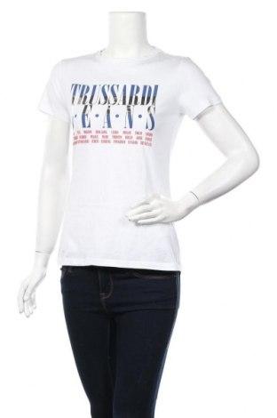 Дамска тениска Trussardi Jeans, Размер L, Цвят Бял, Памук, Цена 44,85лв.