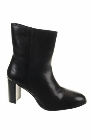 Γυναικεία μποτάκια Manoukian, Μέγεθος 41, Χρώμα Μαύρο, Γνήσιο δέρμα, Τιμή 77,62€