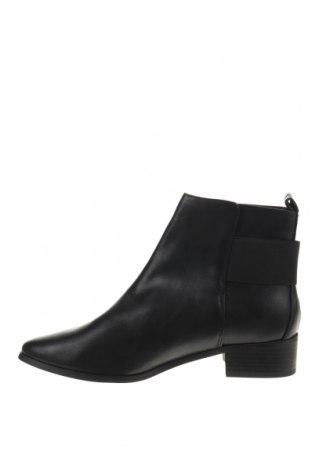 Γυναικεία μποτάκια Reserved, Μέγεθος 39, Χρώμα Μαύρο, Δερματίνη, Τιμή 10,55€