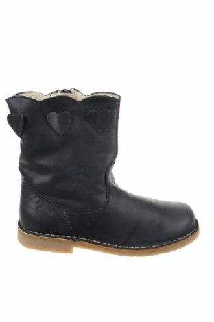 Γυναικεία παπούτσια Pom Pom, Μέγεθος 34, Χρώμα Μπλέ, Γνήσιο δέρμα, Τιμή 40,70€