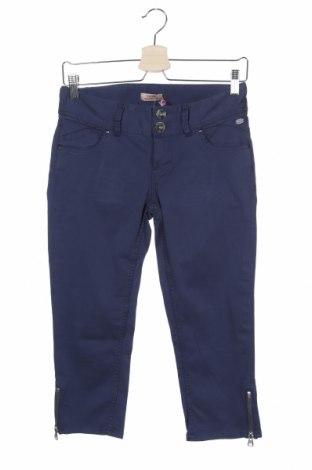 Γυναικείο παντελόνι DDP, Μέγεθος XS, Χρώμα Μπλέ, 97% βαμβάκι, 3% ελαστάνη, Τιμή 11,38€