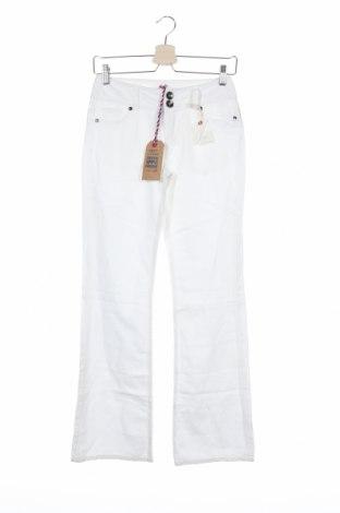 Γυναικείο παντελόνι DDP, Μέγεθος XS, Χρώμα Λευκό, 60% βαμβάκι, 40% λινό, Τιμή 17,07€