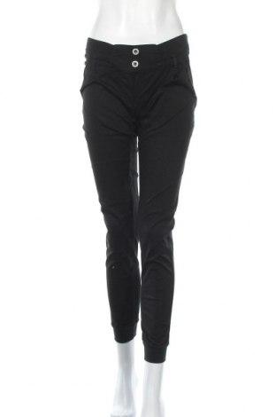 Γυναικείο παντελόνι Foggy, Μέγεθος M, Χρώμα Μαύρο, 97% βαμβάκι, 3% ελαστάνη, Τιμή 8,89€