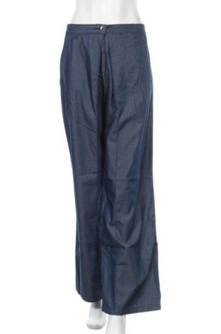 Дамски панталон Stefanel, Размер L, Цвят Син, 85% памук, 15% лиосел, Цена 27,51лв.