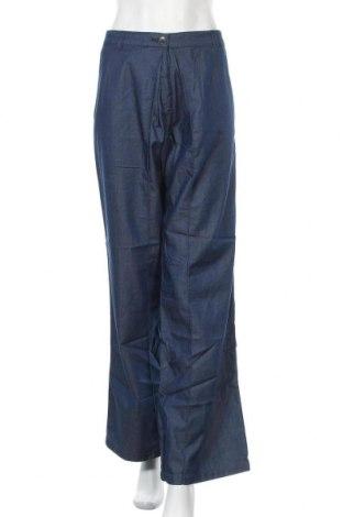 Γυναικείο παντελόνι Stefanel, Μέγεθος L, Χρώμα Μπλέ, 85% βαμβάκι, 15% lyocell, Τιμή 21,58€