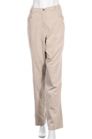 Γυναικείο παντελόνι Ulla Popken, Μέγεθος XXL, Χρώμα  Μπέζ, 97% βαμβάκι, 3% ελαστάνη, Τιμή 7,28€