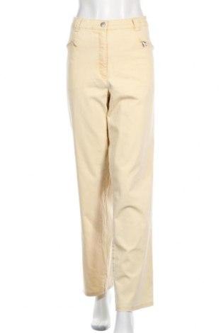 Γυναικείο παντελόνι Ulla Popken, Μέγεθος XXL, Χρώμα Κίτρινο, 97% βαμβάκι, 3% ελαστάνη, Τιμή 14,55€