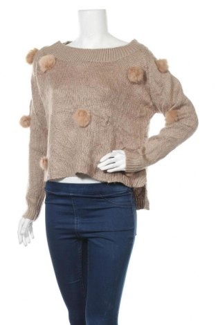 Γυναικείο πουλόβερ, Μέγεθος L, Χρώμα  Μπέζ, Τιμή 13,58€