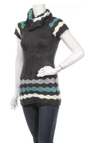 Дамски пуловер, Размер XS, Цвят Сив, 50% вълна, 40% акрил, 10% еластан, Цена 6,52лв.