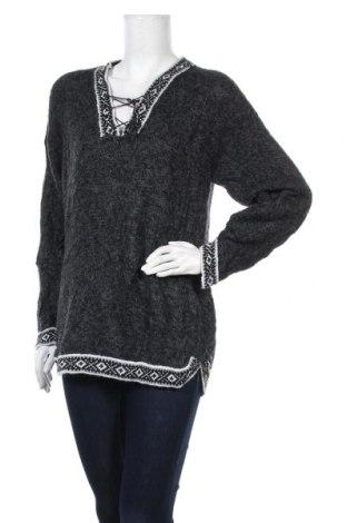 Дамски пуловер, Размер L, Цвят Сив, Цена 25,94лв.