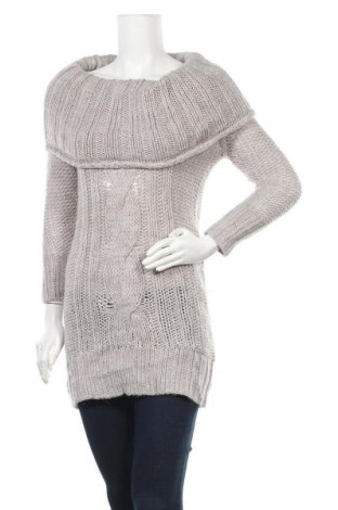 Дамски пуловер, Размер S, Цвят Сив, 20% вълна, 5% вълна от алпака, 75% акрил, Цена 6,30лв.