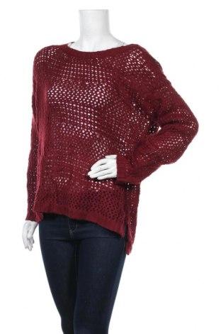Дамски пуловер, Размер M, Цвят Червен, Акрил, Цена 17,85лв.