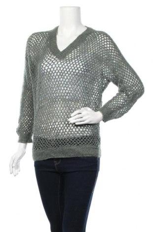 Дамски пуловер, Размер M, Цвят Зелен, Цена 6,56лв.