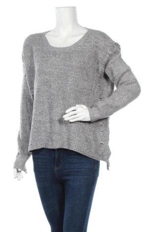 Дамски пуловер, Размер L, Цвят Сив, 35% вълна, 30% памук, 20% вискоза, 10% полиамид, 5% кашмир, Цена 8,82лв.