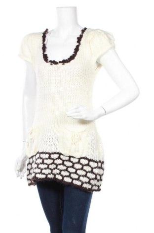 Дамски пуловер, Размер L, Цвят Бял, Цена 6,04лв.