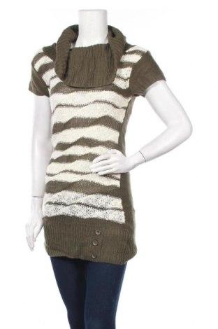 Дамски пуловер, Размер M, Цвят Зелен, Акрил, Цена 5,31лв.