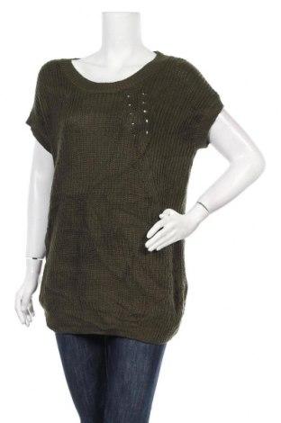 Дамски пуловер A.N.A., Размер L, Цвят Зелен, Акрил, Цена 10,92лв.