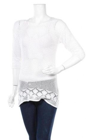 Γυναικείο πουλόβερ Blue Motion, Μέγεθος S, Χρώμα Λευκό, 60% βαμβάκι, 40% βισκόζη, Τιμή 5,46€