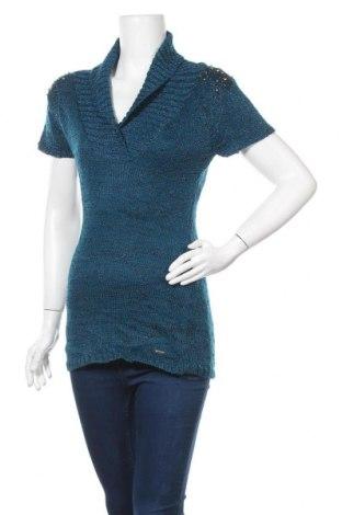 Дамски пуловер Colori, Размер M, Цвят Син, 85% акрил, 15% метални нишки, Цена 6,83лв.
