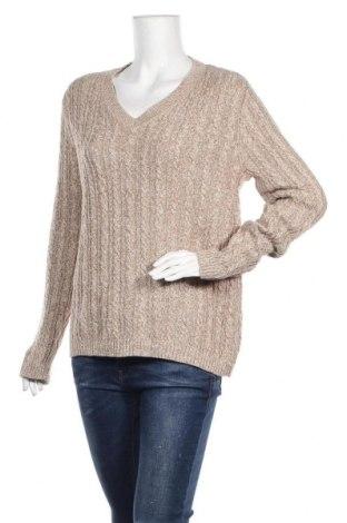Γυναικείο πουλόβερ Croft & Barrow, Μέγεθος L, Χρώμα  Μπέζ, Βαμβάκι, Τιμή 6,76€