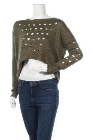 Дамски пуловер Dex, Размер M, Цвят Зелен, Акрил, Цена 26,25лв.