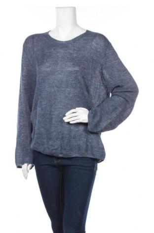 Дамски пуловер Drykorn for beautiful people, Размер L, Цвят Син, Лен, Цена 24,83лв.