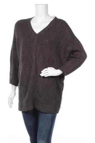 Дамски пуловер Ellen Tracy, Размер L, Цвят Сив, 88% акрил, 12% вискоза, Цена 9,71лв.