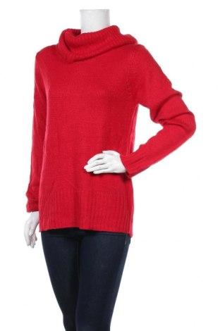 Дамски пуловер Faded Glory, Размер L, Цвят Червен, 95% акрил, 5% други нишки, Цена 43,89лв.