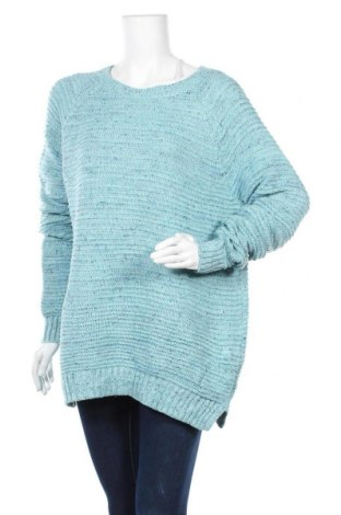 Дамски пуловер Faded Glory, Размер XL, Цвят Син, 61% полиестер, 34% акрил, 5% метални нишки, Цена 15,02лв.