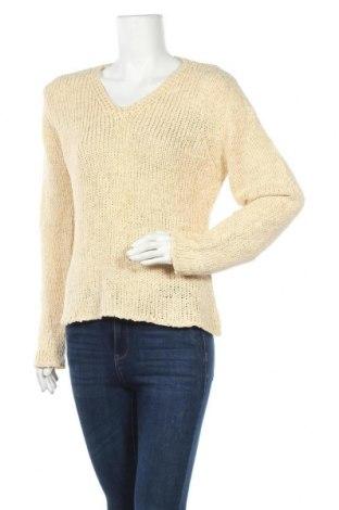 Дамски пуловер Frapp, Размер L, Цвят Бежов, Цена 7,09лв.