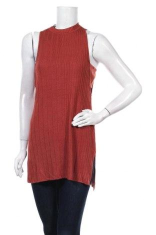 Дамски пуловер Guess, Размер S, Цвят Кафяв, Вискоза, Цена 21,80лв.