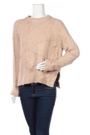 Дамски пуловер H&M, Размер S, Цвят Бежов, 90% акрил, 10% вълна, Цена 8,51лв.